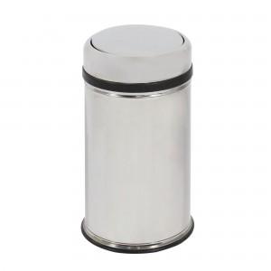 Cos gunoi BCK498400 din inox + plastic, forma cilindrica, cromat, cu capac gravitational, 20L