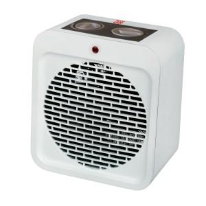 Aeroterma electrica Zass ZFH 04, 2 trepte, 2000 W, 400 x 400 x 200 mm, termostat reglabil, functie ventilatie