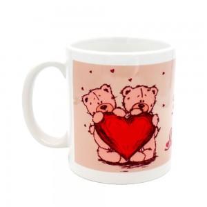 Cana Love 17 cu mesaj, ceramica, multicolor, 250 ml