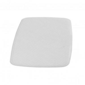 Covoras baie cu ventuze Capri 66281, alb, 54 x 54 cm