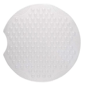 Covoras baie cu ventuze Tecni Ic 68800, alb, 55 x 55 cm