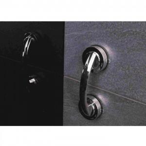 Maner de sustinere din plastic, pentru baie, Davo Pro 12090000, cromat, montaj cu ventuze, 19.4 cm