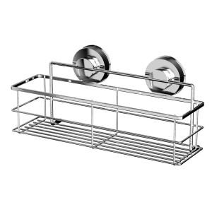 Etajera pentru baie din metal Davo Pro 12010200, montare cu ventuze, 30.5 x 11.5 x 14.6 cm