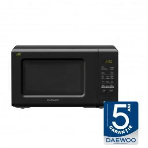 Cuptor cu microunde Daewoo KOR-6S2BK, 20 l, 800 W, 10 nivele de putere, control electronic, negru