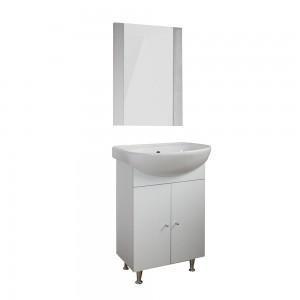 Masca baie + lavoar + oglinda Martplast Start 500, cu usi, alb, 50 x 72 x 32 cm