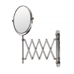 Oglinda cosmetica pentru baie, HSY3012, pliabila, cu lupa, montaj pe perete, D - 15 cm