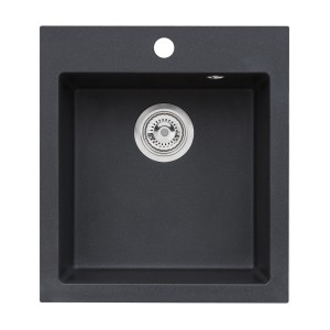Chiuveta bucatarie compozit granit Alveus Boogie 20 A91 1812091 negru patrata 50 x 49 cm