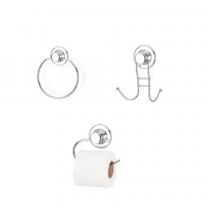 Set accesorii pentru baie, DM 100, cromat, 3 piese