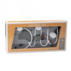 Set accesorii pentru baie, DM 100B, alb, 3 piese