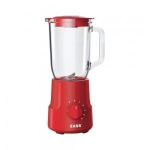 Blender Zass ZSB 10 RL, 500 W, 5 trepte de viteza, 1.5 l, functie Pulse, bol din sticla termorezistenta, zdrobire gheata, rosu