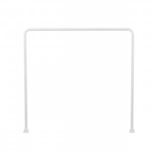 Bara perdea dus, aluminiu, BBP 004163, alba, 90 x 90 x 90 cm