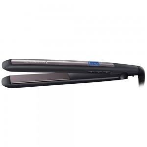 Placa de par Remington S5505, invelis ceramic, oprire automata, temperatura reglabila 150 - 230 grade, ecran digital, 42 W, negru + mov