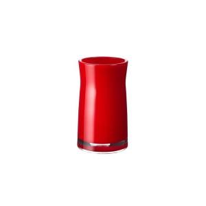 Pahar baie pentru igiena personala, Davo Pro Disco 2103106, acrilic, rosu, 6.5 x 6.5 x 12.4 cm