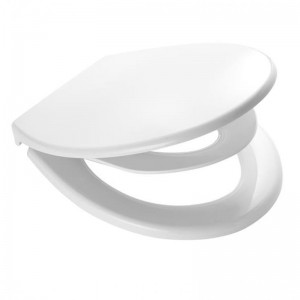 Capac WC din polipropilena Generation, cu adaptor pentru copii Junior 2119101, alb, inchidere lenta, 370 x 430 mm