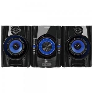 Sistem audio Meister Hausgerate HRH-CM1510, 100 W, multi-track CD programabil, Bluetooth, USB, Aux in, radio FM, negru, telecomanda, display LED
