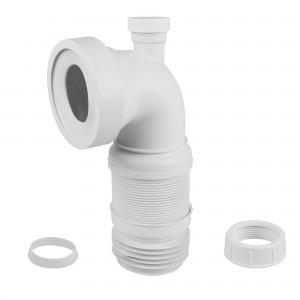 Racord WC flexibil - extensibil, Eurociere 1225, cot la 90 grade, cot masina de spalat