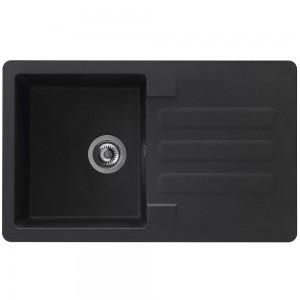 Chiuveta bucatarie compozit SMC Alveus Marin negru cuva stanga / dreapta 81 x 50 cm