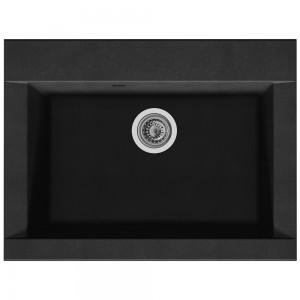 Chiuveta bucatarie compozit SMC Alveus Zonda negru cuva stanga / dreapta 66 x 50 cm