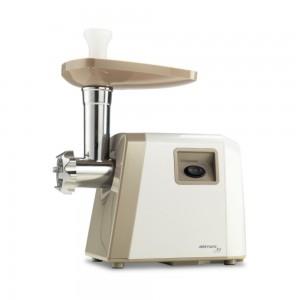 Masina de tocat carnea, electrica, Delimano Joy 106118320, functie Reverse, 0.8 kg/min, 1800 W, alb cu argintiu