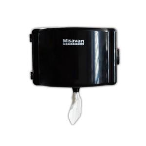 Dispenser hartie igienica mini one by one Misavan, plastic, negru
