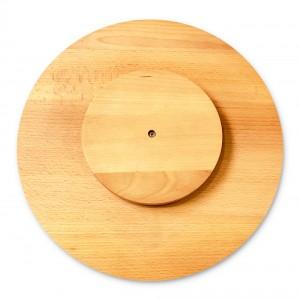 Tocator lemn, 6099, forma rotunda, bej, 30 x 3 cm