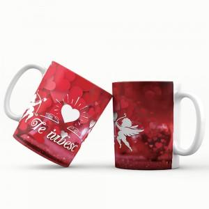 Cana cu mesaj Te iubesc, ES5530-126, ceramica, 330 ml