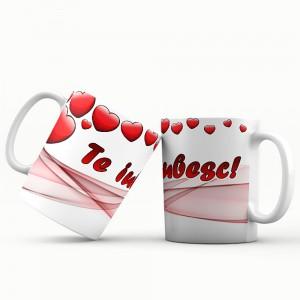 Cana cu mesaj Te iubesc, ES5530-156, ceramica, 330 ml