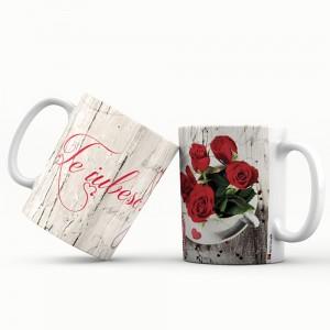 Cana cu mesaj Te iubesc, ES5530-191, ceramica, 330 ml