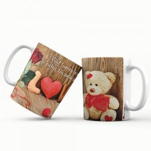 Cana cu mesaj de iubire, ES5530-196, ceramica, 330 ml