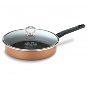 Tigaia Delimano Dry Cooker, cu maner detasabil, otel + QuanTitanium, D 26 cm