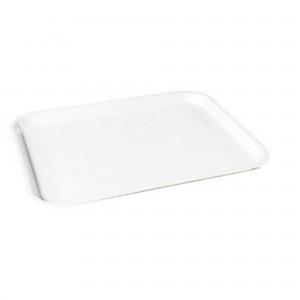 Tava dreptunghiulara, mica, pentru autoservire alimente, Plastina, alba, 35 x 45 x 2.3 cm