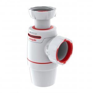 "Sifon pentru chiuveta bucatarie, Wirquin Neo 30722156, alb, tip butelie, 1""1/4, D - 40"