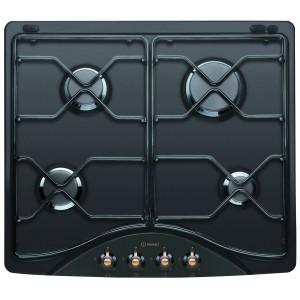 Plita pe gaz incorporabila Indesit PN 642/I AN, 4 arzatoare, putere 7.3 kW, dispozitiv siguranta arzatoare, neagra