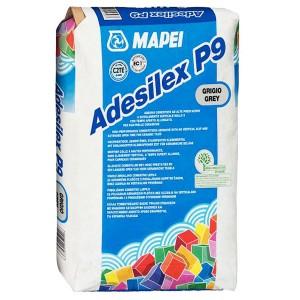 Adeziv flexibil pentru gresie si faianta Mapei Adesilex P9, interior / exterior, gri, 25 kg