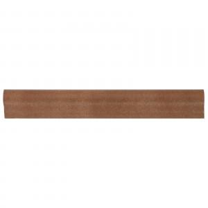 Bordura ceramica pentru treapta, Torelo 230, maro, mata, dreptunghiulara, 5 x 36 cm