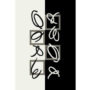 Covor living / dormitor Oriental Weavers Trance Marcelo K 512/F35 polipropilena dreptunghiular negru + alb 200 x 285 cm