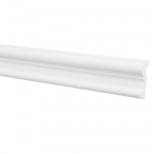Bagheta polistiren decorativa LX70 modern alb 200 x 7 x 2 cm