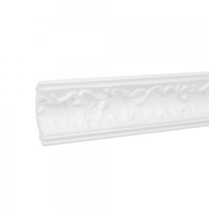 Bagheta polistiren decorativa C113-80 clasic alb 200 x 5.5 x 5 cm