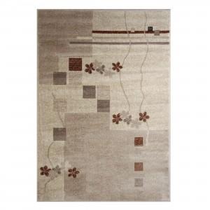 Covor living / dormitor Carpeta Delta 36181-43255 polipropilena heat-set dreptunghiular crem 60 x 110 cm
