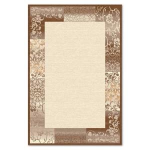 Covor living / dormitor Carpeta Delta 61801-43231 polipropilena heat-set dreptunghiular crem 60 x 110 cm