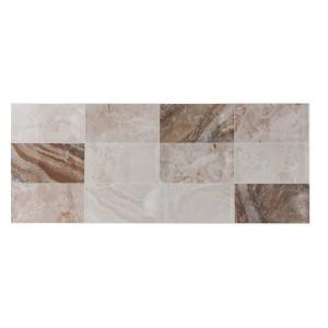 Decor faianta baie / bucatarie Mozaic Orinoco Prisma, bej, lucios, 20 x 50 cm