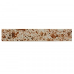 Plinta gresie ceramica Compact, lucioasa, bej, 8 x 45 cm