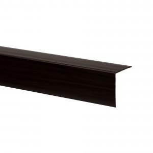 Profil de colt L 32018-8695 din PVC, wenge, 25 x 25 mm, 2.75 m