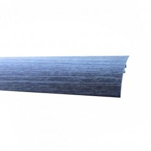 Profil de trecere diferenta nivel din aluminiu S65, latime 49 mm, stejar gri, 270 cm
