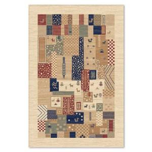 Covor living / dormitor Carpeta Atlas 82701-41333 polipropilena heat-set dreptunghiular crem 60 x 110 cm