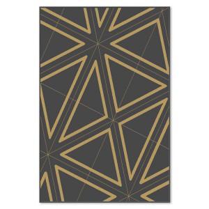 Covor living / dormitor Carpeta Soho 19481-16944 polipropilena heat-set dreptunghiular negru 60 x 110 cm