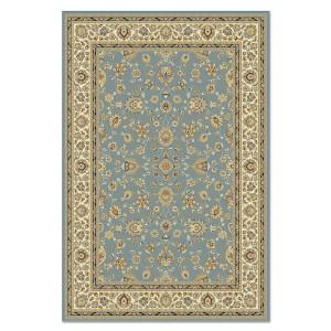 Covor living / dormitor Carpeta Atlas 81621-41266 polipropilena heat-set dreptunghiular albastru 120 x 170 cm