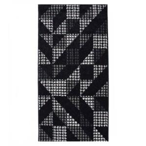 Covor living / dormitor McThree Casin 7565 K948 polipropilena frize, heat-set dreptunghiular negru 80 x 150 cm