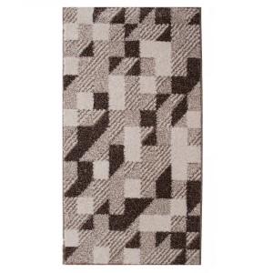 Covor living / dormitor McThree Casin 8072 8S15 polipropilena frize, heat-set dreptunghiular crem 200 x 290 cm