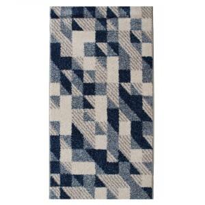 Covor living / dormitor McThree Casin 8072 8V13 polipropilena frize, heat-set dreptunghiular albastru 160 x 230 cm
